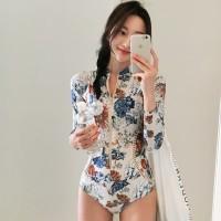 Baju Renang Lengan Panjang Muslim Bikini Set Monokini Swimsuit Busa
