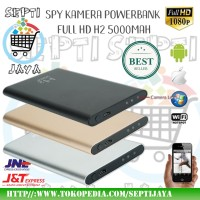 Powerbank Kamera Full HD 1080P H2 5000Mah Power Bank 5000 Mah Spy Cam