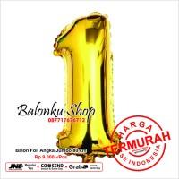 Balon Foil Angka Jumbo Gold 80 Cm / Balon Angka Jumbo 80cm