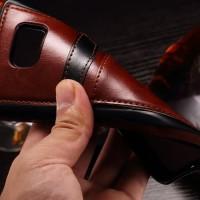 sony Z5 Premium Leather back cover case Soft casing armor lentur TPU
