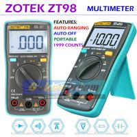 Multimeter Digital ZOTEK ZT98 Avometer Multitester AC DC Auto Range