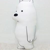 Boneka We Bare Bear Size Large (50 cm) - Ice Bear Full Body