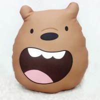 Boneka We Bare Bear Size Large (40 cm) - Grizzly Face