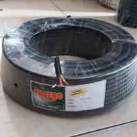 Kabel listrik serabut 3x1.5 pajero / kabel serabut isi 3 hitam/meter