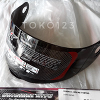 Kaca helm KYT X Rocket warna hitam
