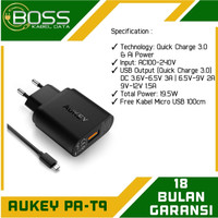 AUKEY PA - T9 Charger fast charging support QC 3.0 Original Garansi