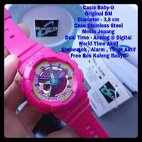 Jam Tangan Wanita CASIO BABY-G (ORI BM) BABY PINK