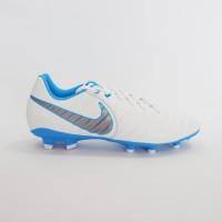 Sepatu Bola Nike Tiempo Legend 7 Academy FG - White/Mtlc CoolGrey-Blue