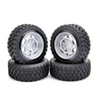 S01 RC Onroad / rally / off road tire - ban RC velg 1:10 silver rim