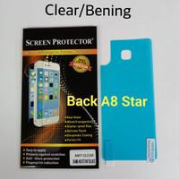 Anti Gores Screen Protector Back Clear Bening Samsung A8 Star Belakang
