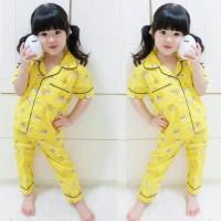 [PIYAMA GUDETAMA UNISEX SL] setelan anak perempuan katun jepang kuning