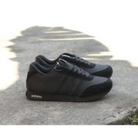 Sepatu Adidas Neo Full Hitam Pria Wanita Anak Sekolah Running Sport