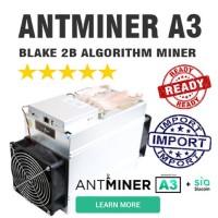 Antminer A3 Blake2b + SIA Bitmain Ready Stock !! Fresh DHL + PSU
