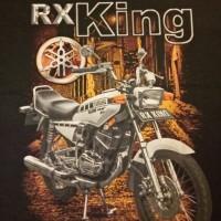Kaos 3D Gambar Motor RX King silver