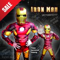 Baju kostum anak Ironman Iron Man Superhero Super Hero ulang tahun