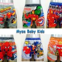 Paket Grosir Celana Boxer Renang Karakter Kartun (semilong) Anak Laki