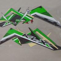 Stiker Bodi & Lis Body & Striping Klx 150L Hitam Hijau
