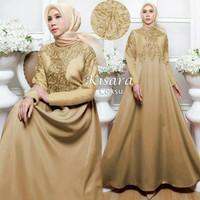 Marun pink toska emas kuning gold baju mewah pesta muslim gamis dress