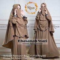 baju gamis syar'i cadar polos model terbaru murah set hijab