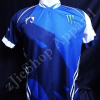 Jersey Kaos Baju Gaming Liquid Blue DoTA2, CS;GO, AOV dll Free Nick