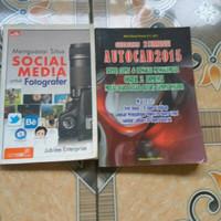 buku sosial media fotografer dan autocad 2015 lengkap harga per 1 buku