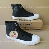 Sepatu Sekolah - Warrior Sparta HC - Hitam Hitam Putih