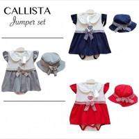 Callista Jumper Set / Jumper Bayi Perempuan / Baju Bayi Perempuan