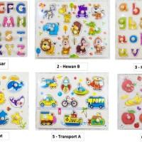 Mainan Puzzle Kayu Knob Premium