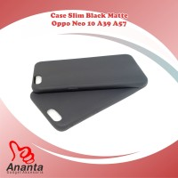Slim Fit Black Mate Matte Oppo A57 Neo 10 A39