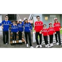 Family 2 Anak Sweater Bintang - Baju Keluarga / Family Couple / Grosir