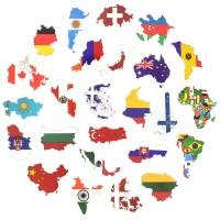 50 pcs Stiker Sticker Travel Bendera Negara Koper Laptop Rimowa