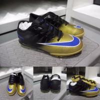 Sepatu Futsal Anak Nike Mercurial Superfly CR7 TF Kids Black Gold Hi