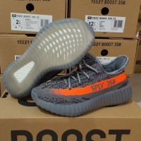 Sepatu anak Adidas yeezy Boost 350 v2 beluga solar red