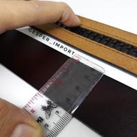 Tali ikat pinggang 3.5cm model rel tali kulit asli sapi