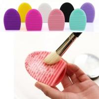 Silikon Pembersih Kuas Silicone Brush Egg Pencuci Kuas Alat Make Up