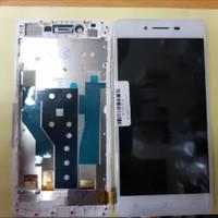 LCD 1SET PLUS FRAME FOR OPPO R7 R7F R7 F ORIGINAL WHITE
