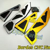 NEW bordes CNC yamaha nmax karpet injekan kaki nmax cnc aksesoris nmax