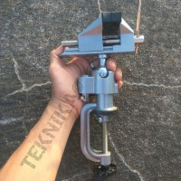 Flexible Bench Vice Ragum Tanggem Rotating Vise Clamp Catok Serbaguna