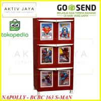 Napolly Lemari Plastik 6 Pintu Karakter Superman BCBC 163 SMAN MURAH