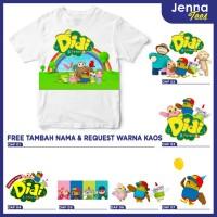 Didi And Friends - Kaos / Baju Anak Gratis cetak nama custom raglan