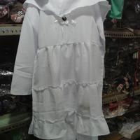 setellan baju muslim putih anak tk .paud 2-3-4 taun sekolah ,ngaji ,