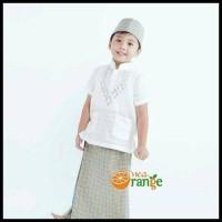 Harga Termurah Baju Koko Anak Balita Lengan Pendek Bordir Putih (1- 7
