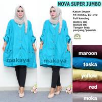 Baju wanita cewek remaja atasan nova super jumbo blouse katun muslim
