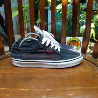 Vans Skateboard Shoe Gray Brown Denim