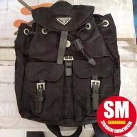 Tas Prada Nylon Vela Backpack Hitam 100% ORIGINAL