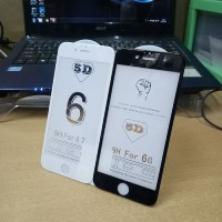 Tempered Glass, Anti Gores Kaca Full Cover iPhone 6/6S 5D