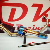 knalpot racing Akrapovic Biru yamaha Scorpio Z fullsystem