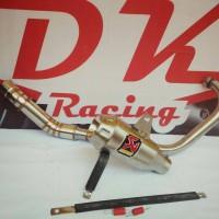 knalpot racing Akrapovic Gp yamaha Scorpio Z fullsystem