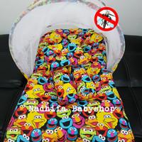 Kasur Bayi/Matras Bayi/Kelambu Lipat/Bantal Guling Bayi Motif Elmo