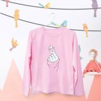 Tumblr Tee / T-Shirt / Kaos Wanita Lengan Panjang Sarang Warna Pink